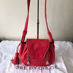 See by Chloe Cross Body Tassle Bag, Authentic
